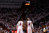 Miami, FL - June 17: Dwyane Wade and LeBron James Photographic Print by Andrew Bernstein
