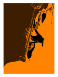 Jazz Orange Prints by  NaxArt