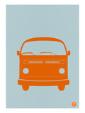 Orange VW Bus Print by  NaxArt