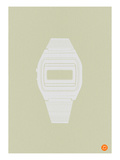 White Electronic Watch Print by  NaxArt