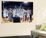 Oklahoma City, OK - June 6: Kendrick Perkins, Kevin Durant, Serge Ibaka and Russell Westbrook Vægplakat af Layne Murdoch