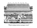 """They're trying to attract a younger crowd."" - New Yorker Cartoon Premium Giclee Print by Benjamin Schwartz"
