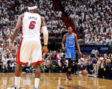 Miami, FL - June 17: Kevin Durant and LeBron James Photographic Print by Andrew Bernstein