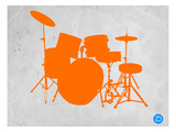 Orange Drum Set Prints by  NaxArt
