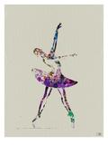 Ballerina Watercolor 4 Poster von  NaxArt