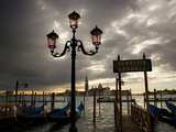 Gondolas in the Basin and the Campanile of San Marco in the Distance Photographic Print by Chris Hill