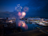 Firework Display at Belfast Tall Ships Event Photographic Print by Chris Hill
