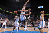 Oklahoma City, OK - June 6: Tony Parker and Nick Collison Photographic Print by Garrett W. Ellwood