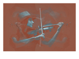 Violinist Brown Posters by  NaxArt