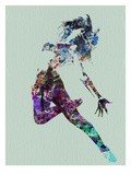 Dancer Watercolor Prints by  NaxArt