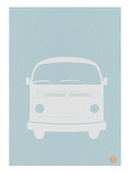 VW Bus Blue Poster Posters by  NaxArt