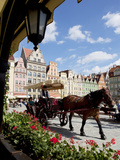 Market Square, Old Town, Wroclaw, Silesia, Poland, Europe Photographic Print by Frank Fell