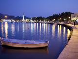 Harbour at Dusk, Zakynthos Town, Zakynthos, Ionian Islands, Greek Islands, Greece, Europe Photographic Print by Frank Fell