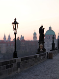 Charles Bridge, UNESCO World Heritage Site, Old Town, Prague, Czech Republic, Europe Photographic Print by Hans-Peter Merten
