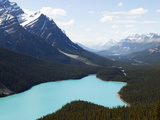 Peyto Lake Is a Glacier-Fed Lake in the Canadian Rockies Photographic Print by Keith Barraclough