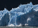 Huge Chunks of Ice Calf Off of San Rafael Glacier Photographic Print by Maria Stenzel