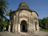 Small Village Temple, Baranagar, Rural West Bengal, India, Asia Photographic Print by Annie Owen