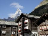 Zermatt and the Matterhorn Behind, Valais, Swiss Alps, Switzerland, Europe Photographic Print by Hans-Peter Merten