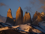 The Impressive and Gigantic Torres Del Paine in Chile's Patagonia Photographic Print by Maria Stenzel