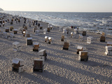Beach at the Baltic Sea Spa of Heringsdorf, Usedom, Mecklenburg-Western Pomerania, Germany, Europe Photographic Print by Hans Peter Merten