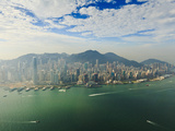 High View of the Hong Kong Island Skyline and Victoria Harbour, Hong Kong, China, Asia Photographic Print by Amanda Hall