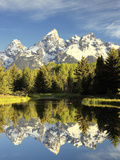 Reflections of Grand Teton Mountain in the Snake River Photographic Print by Robbie George