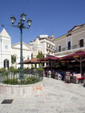 Restaurants, St. Markos Square, Zakynthos Town, Zakynthos, Ionian Islands, Greek Islands, Greece, E Photographic Print by Frank Fell