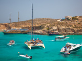Blue Lagoon, Comino, Malta, Mediterranean, Europe Photographie par Billy Stock