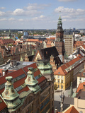 Old Town Rooftops Viewed from Marii Magdaleny Church, Wroclaw, Silesia, Poland, Europe Reproduction photographique par Frank Fell