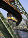 Overhead Railway over Th River Wupper, Wuppertal, North Rhine-Westphalia, Germany, Europe Photographic Print by Hans-Peter Merten