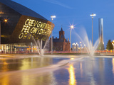 Millennium Centre, Cardiff Bay, Cardiff, South Wales, Wales, United Kingdom, Europe Lámina fotográfica por Billy Stock