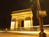 Arc De Triomphe and Place Charles De Gaulle at Night, Paris, France, Europe Photographic Print by Hans-Peter Merten