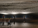 Cavers, in the Middle of Hang En, Pass Beneath a Scalloped Ceiling Photographic Print by Carsten Peter
