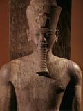 A Quartzite Lifesize Statue Amenhotep III As the God Atum Fotodruck von Kenneth Garrett