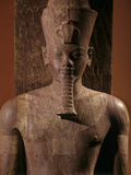A Quartzite Lifesize Statue Amenhotep III As the God Atum Photographic Print by Kenneth Garrett