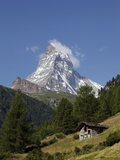 The Matterhorn Near Zermatt, Valais, Swiss Alps, Switzerland, Europe Fotografisk tryk af Hans-Peter Merten
