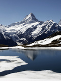 Bachalpsee at Grindelwald-First and Bernese Alps, Bernese Oberland, Swiss Alps, Switzerland, Europe Photographic Print by Hans-Peter Merten