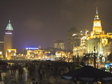 The Bund at Night, Shanghai, China, Asia Photographic Print by Amanda Hall