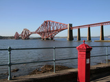 Forth Bridge over the Firth of Forth, South Queensferry, Scotland, United Kingdom, Europe Photographic Print by Hans-Peter Merten