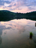 Cloud Reflections in a Calm Lake at Twilight Photographic Print by Amy & Al White & Petteway