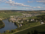 Village of Machtum, Mosel Valley, Luxembourg, Europe Photographic Print by Hans-Peter Merten