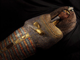 The Coffin of King Tut's Father, Akhenaten, Found in Tomb KV55 Photographic Print by Kenneth Garrett