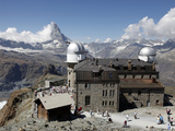Gornergrat and the Matterhorn, Zermatt, Valais, Swiss Alps, Switzerland, Europe Photographic Print by Hans-Peter Merten