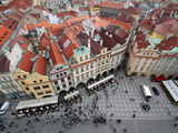 Old Town Square, UNESCO World Heritage Site, Prague, Czech Republic, Europe Photographic Print by Hans-Peter Merten
