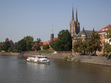 Cathedral and River Odra (River Oder), Old Town, Wroclaw, Silesia, Poland, Europe Photographic Print by Frank Fell