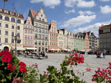 Market Square from Cafe, Old Town, Wroclaw, Silesia, Poland, Europe Photographic Print by Frank Fell