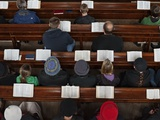 A Midweek Prayer Meeting in the Church of Scotland Photographic Print by Jim Richardson