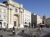 Piazza Garibaldi, Cycles and Architecture, Parma, Emilia Romagna, Italy, Europe Fotoprint van Frank Fell