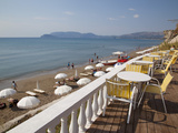 Cafe Overlooking Beach, Kalamaki, Zakynthos, Ionian Islands, Greek Islands, Greece, Europe Photographic Print by Frank Fell