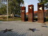 Monument for the Schengen Convention, Schengen, Mosel Valley, Luxembourg, Europe Photographic Print by Hans-Peter Merten